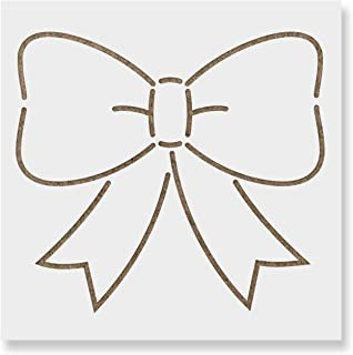 Bow Ribbon Stencil Template - Reusable Stencil with Multiple Sizes Available