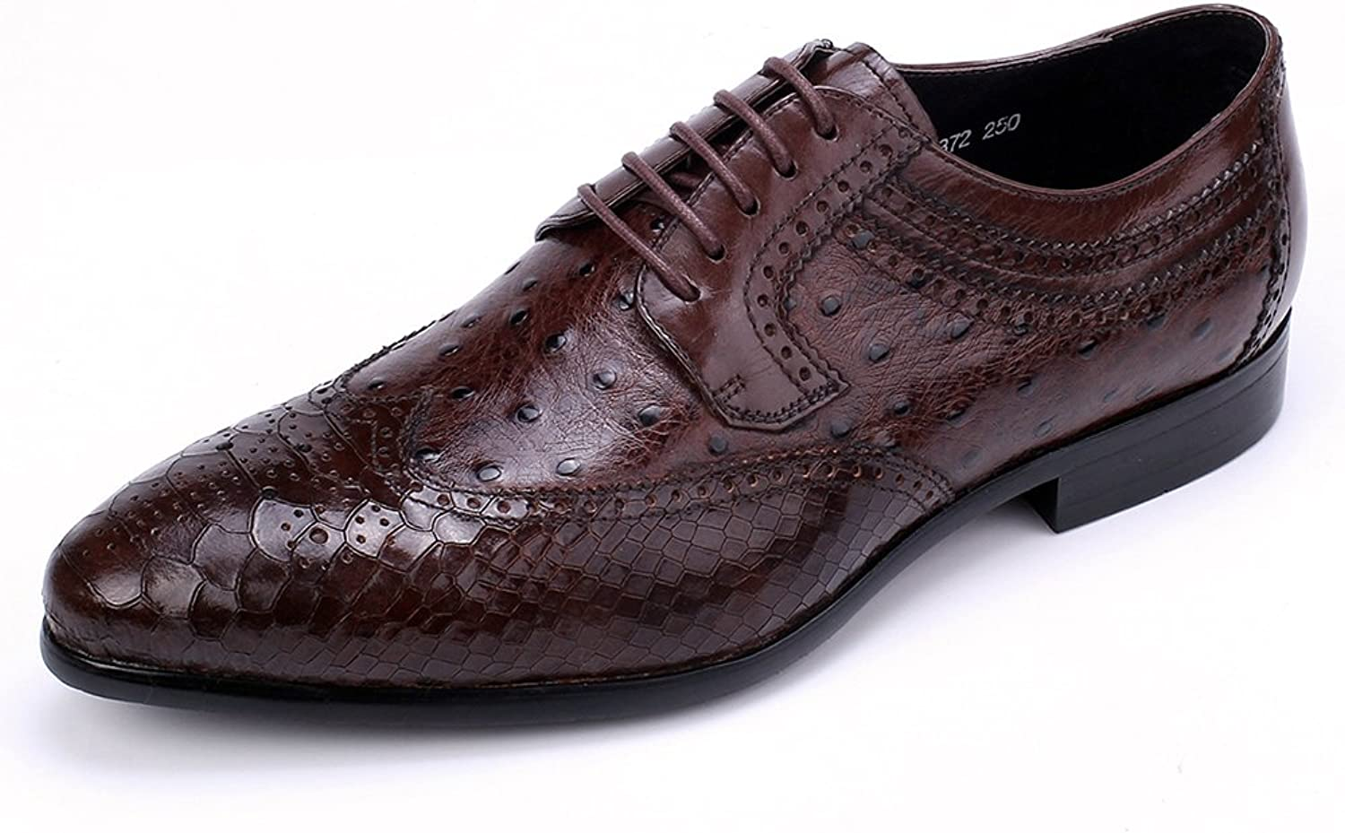 Dycarfell Ragyll Men's Snake Print Leather Oxford shoes