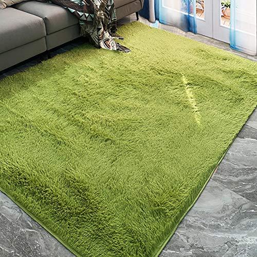 marca blanca Alfombra de felpa para sala de estar, alfombra de área suave, alfombrilla antideslizante para yoga, sofá de dormitorio, manta de terciopelo esponjosa 40 x 60 cm