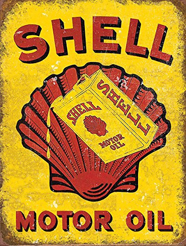 SHELL MOTOR OIL STYLE METAL ADVERTISING WALL SIGN RETRO ART