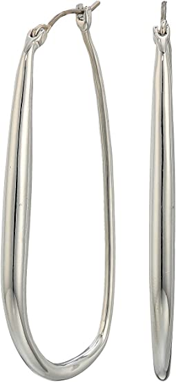 Organic Metal Hoop Earrings