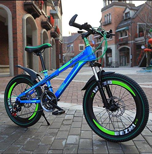ZHIYUAN Ciclo di addestramento del Bambino di Equilibrio dei Bambini di Bicicletta Leggera 122-155CM Bambini Ragazzi Ragazze Che corrono la Prima Bici di Montagna di Sicurezza, Blue