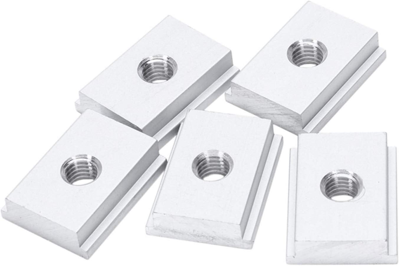 DUO ER 5Pcs M8 T-Track Slider Alloy List 5 ☆ very popular price Aluminum Slot Sliding Nut T