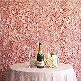 Efavormart 4 PCS Blush Silk Hydrangea Flower Mat Wall Wedding Event Decor for DIY Centerpieces Arrangements Party Home Decorations