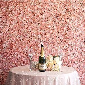 Efavormart 4 PCS Silk Hydrangea Artificial Flower Mat Wall Wedding Party Event Decoration