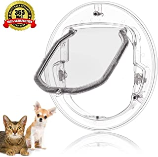 Puerta de Mascota para Gatos y Perros Peque/ños Puerta para Gato con 4 Cerraduras Diferente 30*30*4cm Cat Flap Puerta Colgajo de Gato para F/ácil de Instalar