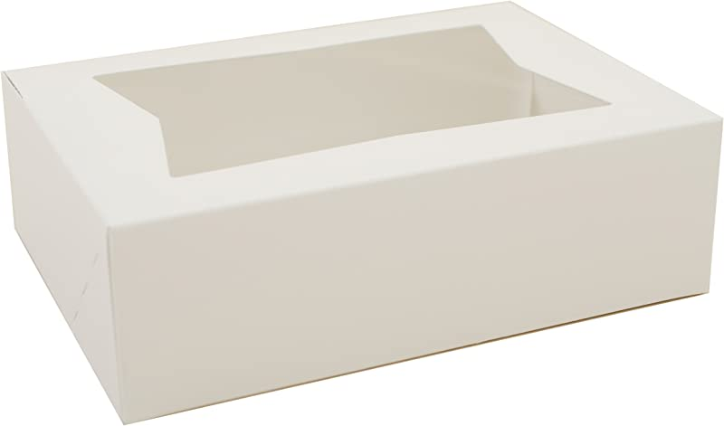 Southern Champion Tray 24003 Paperboard White Window Bakery Box 8 Length X 5 3 4 Width X 2 1 2 Height Case Of 200