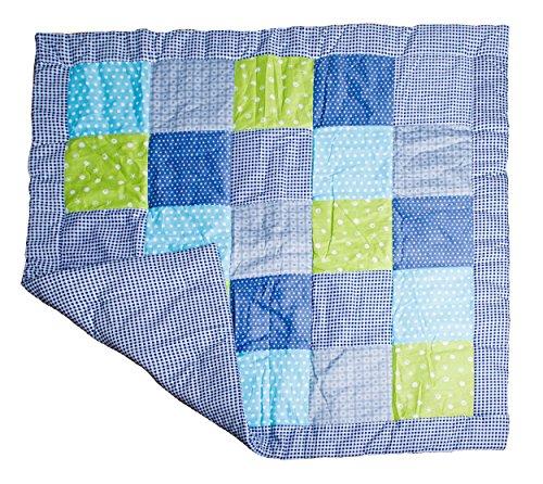 La manta de gateo para bebés de Emma & Noah, es caliente y acolchada, 120 x 120 cm, con diseño de mosaico, ideal también como manta de suelo para bebés, manta de actividades, alfombra para bebés, manta de juegos, colcha de bebé