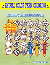 Animal Color Farm Coloring: 30 Activity Wheat, Wheelbarrow, Irrigation, Wheat, Irrigation, Horseshoe, Farm, Hydroponic For Kid Picture Quiz Words Activity And Coloring Books