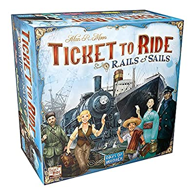Ticket to Ride Rails & Sails Board Game | Family Board Game | Board Game for Adults and Family | Train Game | Ages 10+ | For 2 to 5 players | Average Playtime 60-120 minutes | Made by Days of Wonder