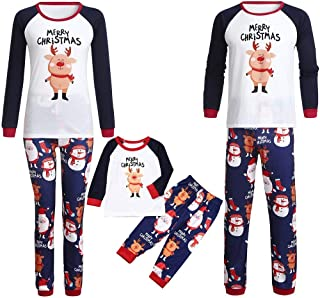 Kehen Merry Christmas Matching Pajamas for Family and Couples Ugly Santa Claus Homewear Toddler Baby Clothes