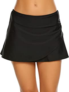 Sheshow Womens Swim/Run/Regular Active Athletic Skirt with Panty Mid Waist Pleated Swimsuit Run Skort S-XXL