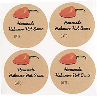 Homemade Habanero Chili Hot Sauce Labels for Mason Jars by Once Upon Supplies, Canning Supplies, Stickers for Homemade Gif...