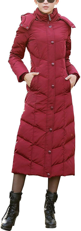 Lienggoldn Women's Winter Lightweight Hooded Thicken Packable Long Down Coat Jacket