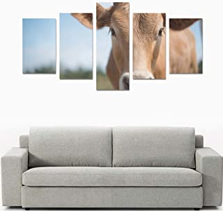JXCSGBD Black-and-White Dairy Cows (no Frame) Canvas Print Sets Wall Art Picture 5 Pieces Paintings Posters Prints Photo Image On Canvas Ready to Hang for Living Room Bedroom Home Office Wall Decor