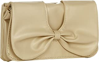 Butterflies Women's Clutch (White) (BNS 2194WC)