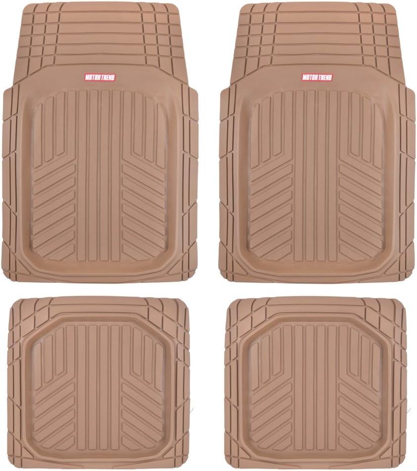 Motor Trend National uniform free shipping MT-934-BG Beige Season Rubber Floor Mats-P Deep Dish Import