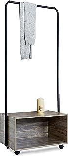 Garderobsställ med klädstänger och skoställ i stål trä garderob öppen klädstång hängande hylla klädställ garderob med hjul...
