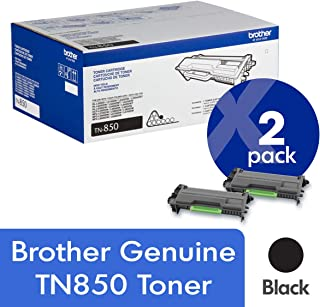 Brother Genuine TN850 2-Pack High Yield Black Toner Cartridge with Approximately 8,000 Page Yield/Cartridge