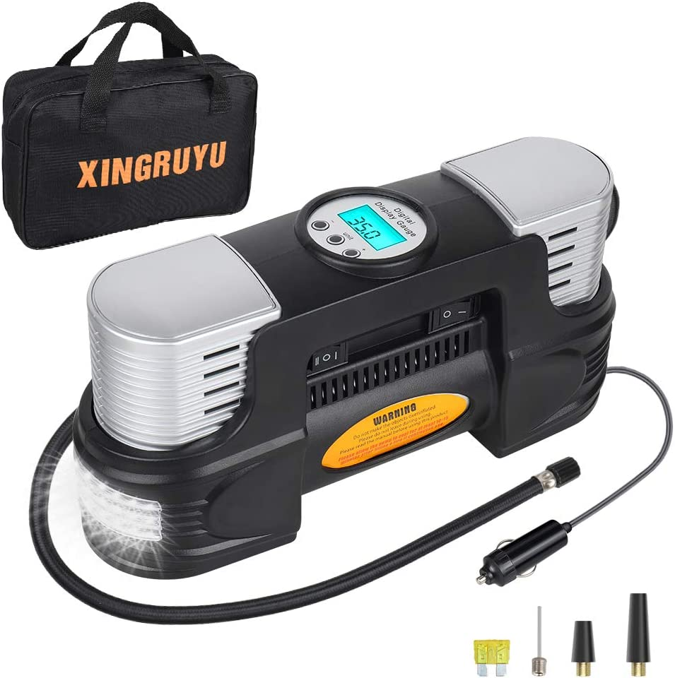 Portable Air Max 88% OFF Compressor for Car Tires Infla - Brand Cheap Sale Venue Dual Cylinder Tire