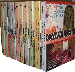 Andrea Camilleri Montalbano Collection 10 Books Set (August Heat,The Paper Moon,The Voice of the Violin,The Scent of the Night,Excursion to Tindari,The Patience of the Spider,Rounding the Mark, The Shape of Water, The Terracotta Dog, The Snack Thief)