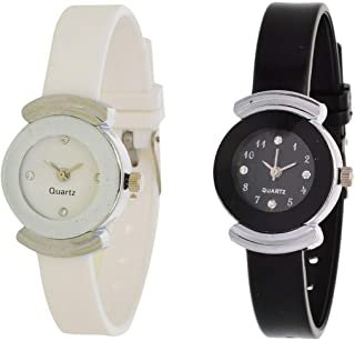 bb5b8d033 VK SALES Analogue Small Black and White Dial Women's Watches Combo - Pack  of 2 for