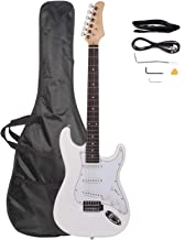Rosewood Fingerboard Electric Guitar White Electric Guitar Kit - for Beginners & Professionals