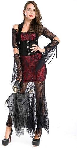 Fashion-Cos1 Hexe Cosplay Schwarzmittelalterlichen Renaissance Erwachsene Hexe Gothic Queen of Vampire kostüm für Halloween Party Dress