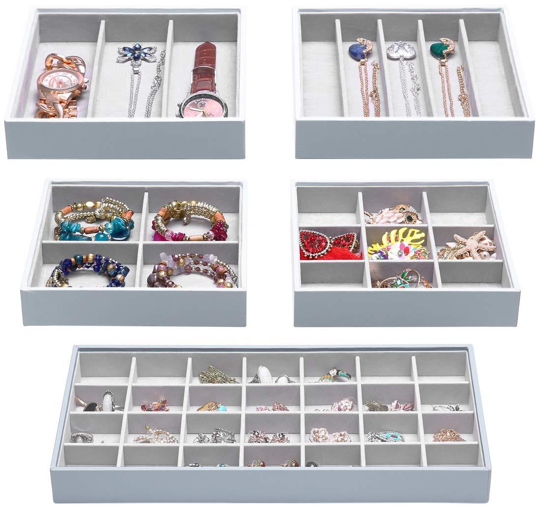 Stackable Organizer Accessories Cosmetics Showcase