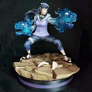Verkligt och roligt Naruto Hyuuga Hinata Dubbel Lion Fighting Action Figur Doll Modell Animerade Tecken Statygåva För Barn...