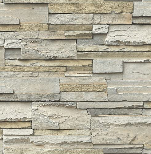 NuWallpaper NU2675 Slate Peel Stick Wallpaper Neutral product image