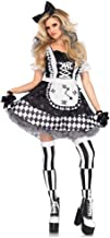 Plaid Maid Costume with Gloves and Headwear Women`s Fancy Dress Apron Dress up Outfit Oktoberfest Halloween Party Costume,...