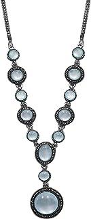 AyA Fashion Designer Oxidised German Silver Necklace with Stone Work | Elegant, Stylish, Trendy
