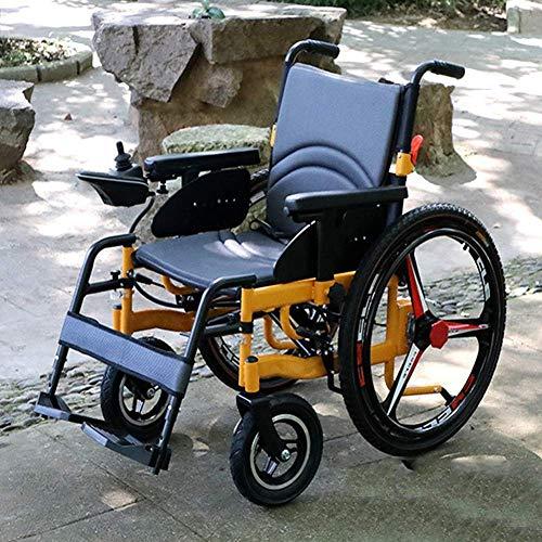 Wheelchair Rollstuhl, medizinischer Reha-Stuhl für Senioren, alte Menschen, elektrischer Rollstuhl Elektrischer Klapprollstuhl Vollintelligenter Elektrorollstuhl mit Eabs-Bremsassistenzsystem Klappba
