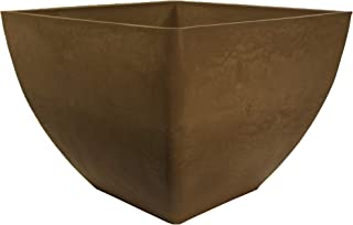 RTS Home Accents Modern Outdoor Plastic Square Garden Planter, 20