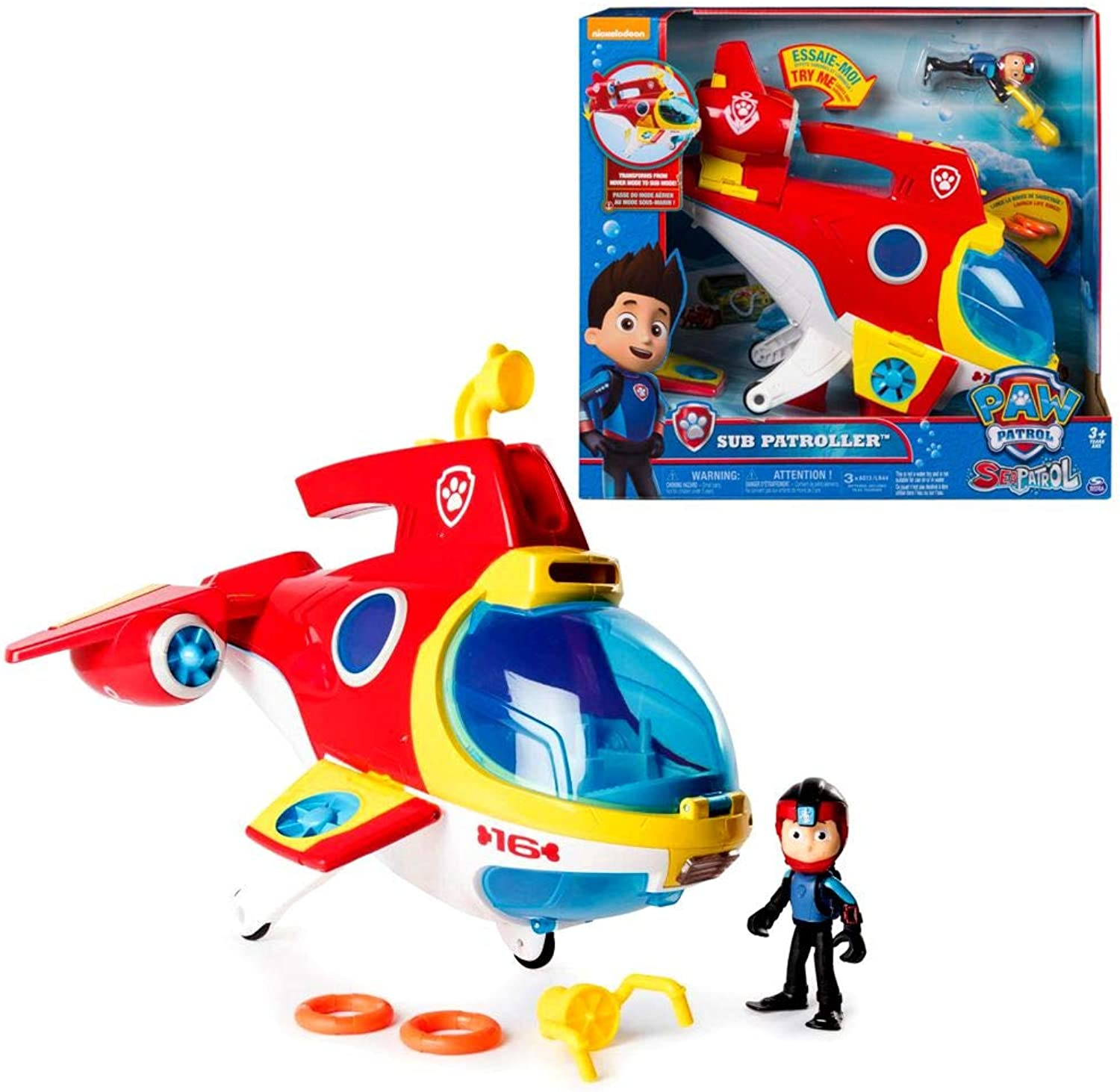 Spin Master Sea Patrol   Sub Patroller Vehicle with Light & Sound   Paw Patrol