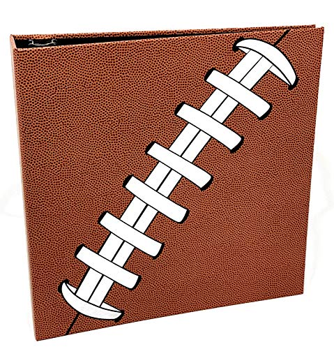Pigskinz 3-Ring Football Card Binder   Looks and Feels Like a Real Football   Premium Embossed Paper Football Card Album with Patented Design