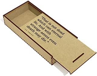 Death Quote by H.P. Lovecraft Wooden Pencil Case / Slide Top Box (PC00021285)