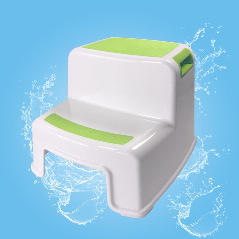Plastic Multifunctional Step Stool,Modern Simple Multicolor Minimalist Home Living Room Bathroom Durable Stool-Green