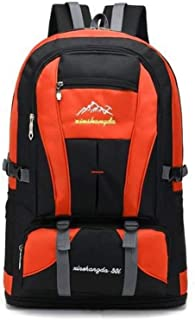 Suitable for Outdoor Activities Male Travel Outdoor Sports Waterproof Backpack (Color : Orange, Size : 40x20x58cm)