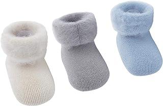d83ee5d171760 DEBAIJIA 3 Paires Bébé Enfants Chaussettes en Coton Hiver Épaisse  Antidérapant pour Nouveau-né Garçon