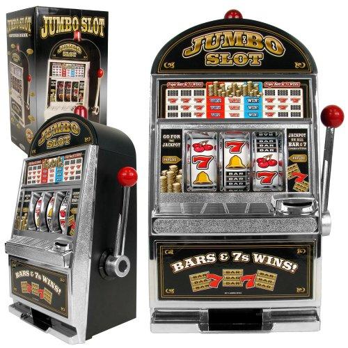 Jumbo Table Top Slot Machine Bank - Includes Bonus Deck of Cards!