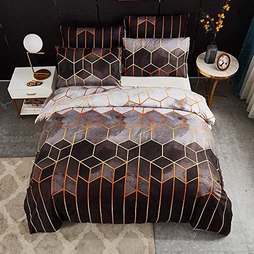 CQLXZ - Juego de ropa de cama de 3 piezas con estampado de diamantes, diseño de piedra de grano creativo 3D, 100 % microfibra, juego de cama de bebé 2/3 piezas (A/200 x 200 cm)