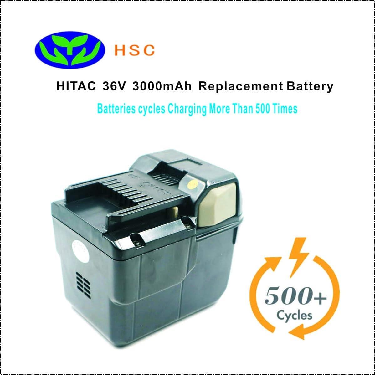 松の木失礼意志に反する3000mAhポータブルバッテリーHIT36Aリチウムイオンバッテリー36 vは、日立36 vバッテリーBSL3626 32803を置き換えます。 ヘビーNEW!