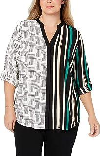 Alfani Womens Striped Layered Blouse Tunic Top Shirt Plus BHFO 4008