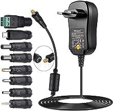 pchero 24 W Universal Conector de fuente con 8 desmontable DC Conector para 3 V-12 V Casa electrónica y dispositivos USB – 2000 mA MAX