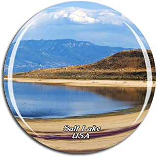 Weekino USA America Great Salt Lake Fridge Magnet 3D Crystal Glass Tourist City Travel Souvenir Collection Gift Strong Refrigerator Sticker