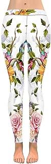 INTERESTPRINT Women's Fashion Print Yoga Pants Horse Space Astronaut Universe with Stars Galaxy Soft Slim Low Rise Leggings