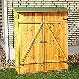 HUIJK XXL Holz Gerätehaus Geräteschuppen Gartenschrank Geräteschrank Gartenhaus
