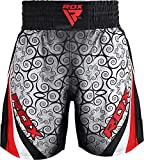 RDX Pantalones Boxeo Corto Entrenamiento Muay Thai Shorts Running Fitness MMA Kickboxing.